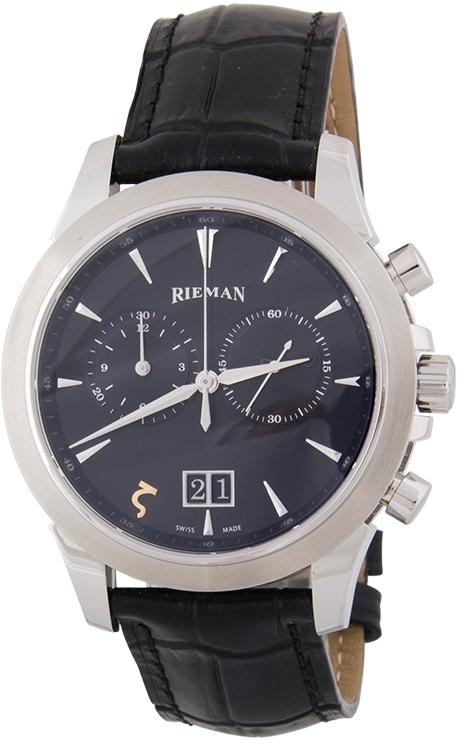 Rieman Academic R2240.234.212Наручные часы<br>Швейцарские часы Rieman Academic R2240.234.212Данная модель &amp;mdash; яркий представитель коллекции Academic. Это стильные мужские часы. Материал корпуса часов &amp;mdash; сталь. Стекло - сапфировое. Часы выдерживают давление на глубине 30 м. Основной цвет циферблата черный. Из основных функций на циферблате представлены: часы, минуты, секунды. В данной модели используются следующие усложнения: дата, . Диаметр корпуса часов составляет 42мм.<br><br>Пол: Мужские<br>Страна-производитель: Швейцария<br>Механизм: Кварцевый<br>Материал корпуса: Сталь<br>Материал ремня/браслета: Кожа<br>Водозащита, диапазон: 20 - 100 м<br>Стекло: Сапфировое<br>Толщина корпуса: None<br>Стиль: Классика