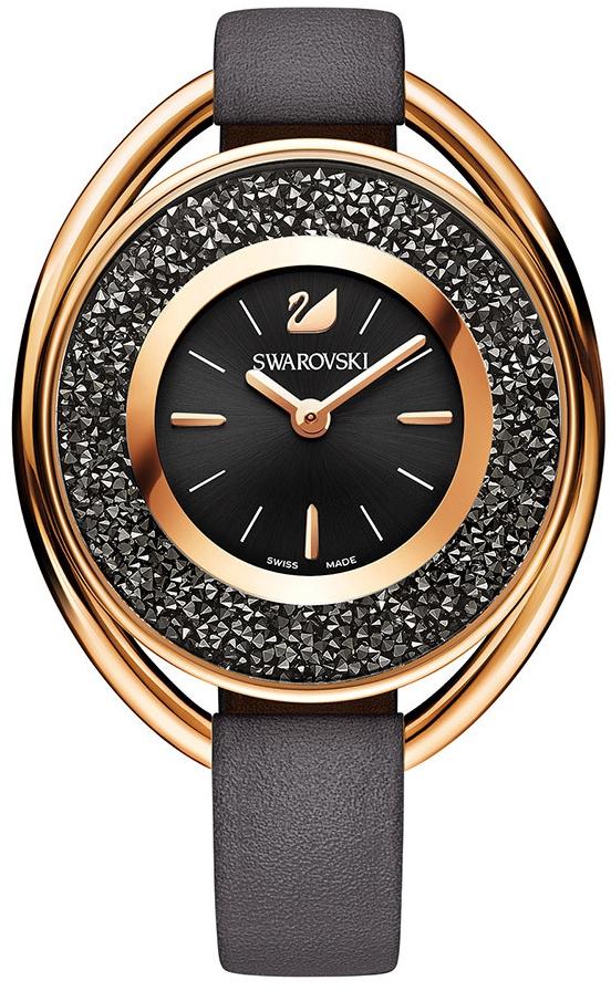 Swarovski Crystalline Oval Gray Tone 5230943Наручные часы<br>Швейцарские часы Swarovski Crystalline Oval Gray Tone 5230943<br><br>Пол: Женские<br>Страна-производитель: Швейцария<br>Механизм: None<br>Материал корпуса: Сталь<br>Материал ремня/браслета: Кожа<br>Водозащита, диапазон: None<br>Стекло: None<br>Толщина корпуса: None<br>Стиль: None