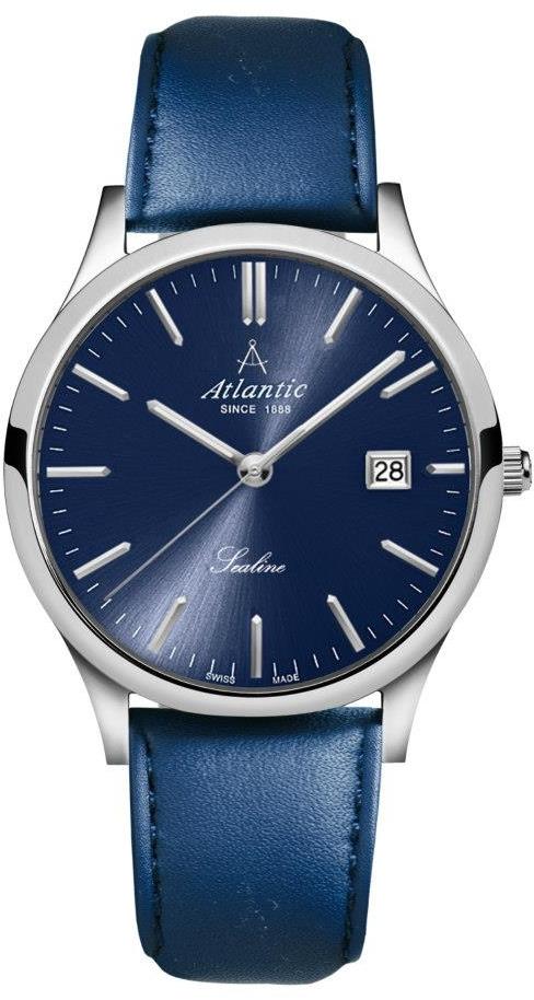 Atlantic Sealine 62341.41.51Наручные часы<br>Швейцарские часы Atlantic Sealine 62341.41.51<br><br>Пол: Мужские<br>Страна-производитель: Швейцария<br>Механизм: Кварцевый<br>Материал корпуса: Сталь<br>Материал ремня/браслета: Кожа<br>Водозащита, диапазон: 20 - 100 м<br>Стекло: Сапфировое<br>Толщина корпуса: 8 мм<br>Стиль: Классика