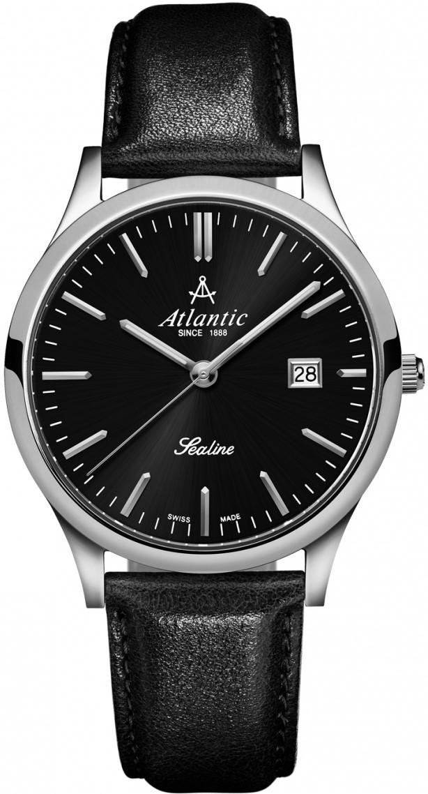 Atlantic Sealine 62341.41.61Наручные часы<br>Часы принадежат коллекции Sealine. Это настоящие мужские часы. Материал корпуса часов — сталь. В этих часах используется сапфировое стекло. Часы выдерживают давление на глубине 30 м. Циферблат часов содержит часы, секунды. В этой модели используются такие усложнения как дата, . Диаметр корпуса часов составляет 40мм.<br><br>Пол: Мужские<br>Страна-производитель: Швейцария<br>Механизм: Кварцевый<br>Материал корпуса: Сталь<br>Материал ремня/браслета: Кожа<br>Водозащита, диапазон: 20 - 100 м<br>Стекло: Сапфировое<br>Толщина корпуса: None<br>Стиль: Классика