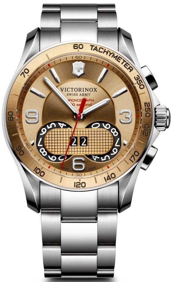 Victorinox Swiss Army 241619Наручные часы<br>Швейцарские часы Victorinox Swiss Army 241619<br><br>Для кого?: Мужские<br>Страна-производитель: Швейцария<br>Механизм: Кварцевый<br>Материал корпуса: Сталь<br>Материал ремня/браслета: Сталь<br>Водозащита, диапазон: 100 - 150 м<br>Стекло: Сапфировое<br>Толщина корпуса/: <br>Стиль: Спорт