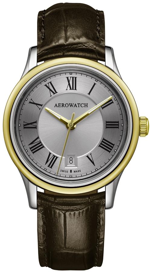 Aerowatch Les Grandes Classiques 24962 BI01Наручные часы<br>Швейцарские часы Aerowatch Les Grandes Classiques 24962 BI01<br><br>Пол: Мужские<br>Страна-производитель: Швейцария<br>Механизм: Кварцевый<br>Материал корпуса: Сталь<br>Материал ремня/браслета: Кожа<br>Водозащита, диапазон: 20 - 100 м<br>Стекло: Сапфировое<br>Толщина корпуса: 7 мм<br>Стиль: Классика