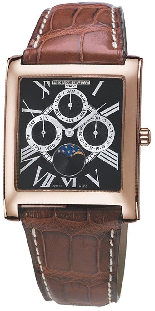 Frederique Constant Persuasion FC-265BS3C24Наручные часы<br>Швейцарские часы Frederique Constant Persuasion FC-265BS3C24Модель входит в коллекцию Persuasion. Это модные мужские часы. Материал корпуса часов — сталь+золото. Циферблат часов защищает сапфировое стекло. Водозащита этих часов 30 м. Основной цвет циферблата черный. Диаметр корпуса часов составляет 35,5х43мм.<br><br>Пол: Мужские<br>Страна-производитель: Швейцария<br>Механизм: Кварцевый<br>Материал корпуса: Сталь<br>Материал ремня/браслета: Кожа<br>Водозащита, диапазон: 20 - 100 м<br>Стекло: Сапфировое<br>Толщина корпуса: 8 мм<br>Стиль: Классика