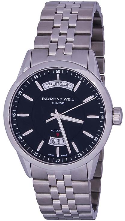 Raymond Weil Freelancer 2720-ST-20021Наручные часы<br>Швейцарские часы Raymond Weil Freelancer 2720-ST-20021Часы входят в модельный ряд коллекции Freelancer. Это великолепные мужские часы. Материал корпуса часов — сталь. В этой модели стоит сапфировое стекло. Водозащита этих часов 100 м. Основной цвет циферблата черный. Диаметр корпуса 42мм.<br><br>Пол: Мужские<br>Страна-производитель: Швейцария<br>Механизм: Механический<br>Материал корпуса: Сталь<br>Материал ремня/браслета: Сталь<br>Водозащита, диапазон: 100 - 150 м<br>Стекло: Сапфировое<br>Толщина корпуса: None<br>Стиль: Классика