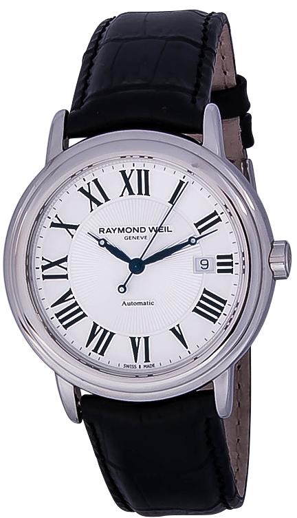 Raymond Weil Maestro 2847-STC-00659Наручные часы<br>Швейцарские часы Raymond Weil Maestro 2847-STC-00659Модель входит в коллекцию Maestro. Это стильные мужские часы. Материал корпуса часов — сталь. Циферблат часов защищает сапфировое стекло. Водозащита - 50 м.<br><br>Пол: Мужские<br>Страна-производитель: Швейцария<br>Механизм: Механический<br>Материал корпуса: Сталь<br>Материал ремня/браслета: Кожа<br>Водозащита, диапазон: 20 - 100 м<br>Стекло: Сапфировое<br>Толщина корпуса: None<br>Стиль: None