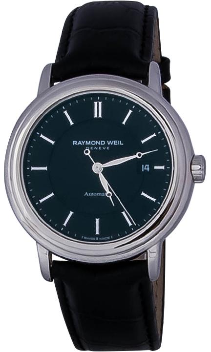 Raymond Weil Maestro 2847-STC-20001Наручные часы<br>Швейцарские часы Raymond Weil Maestro 2847-STC-20001Модель входит в коллекцию Maestro. Это модные мужские часы. Материал корпуса часов — сталь. Циферблат часов защищает сапфировое стекло. Водозащита этих часов 50 м.<br><br>Для кого?: Мужские<br>Страна-производитель: Швейцария<br>Механизм: Механический<br>Материал корпуса: Сталь<br>Материал ремня/браслета: Кожа<br>Водозащита, диапазон: 20 - 100 м<br>Стекло: Сапфировое<br>Толщина корпуса/: <br>Стиль/: