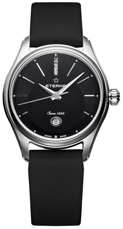Eterna 2940.41.40.1357Наручные часы<br>Швейцарские часы Eterna&amp;nbsp;Avant-Garde Lady Automatic&amp;nbsp;2940.41.40.1357Часы входят в модельный ряд коллекции&amp;nbsp;Avant-Garde. Это женские часы. Материал корпуса часов &amp;mdash; сталь. Стекло - сапфировое. Часы этой модели обладают водозащитой 30 м. Диаметр корпуса - 28 мм.<br><br>Пол: Женские<br>Страна-производитель: Швейцария<br>Механизм: Механический<br>Материал корпуса: Сталь<br>Материал ремня/браслета: Сатин<br>Водозащита, диапазон: 20 - 100 м<br>Стекло: Сапфировое<br>Толщина корпуса: None<br>Стиль: Мода