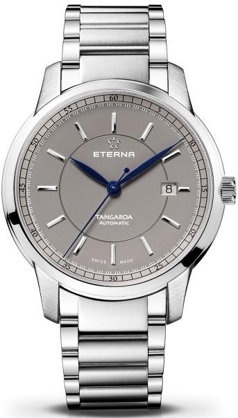 Eterna Tangaroa 2948.41.51.0277Наручные часы<br>Швейцарские часы Eterna Tangaroa 2948.41.51.0277Данная модель входит в коллекцию Tangaroa. Это настоящие мужские часы. Материал корпуса часов &amp;mdash; сталь. В этой модели стоит сапфировое стекло. Часы выдерживают давление на глубине 50 м.<br><br>Пол: Мужские<br>Страна-производитель: Швейцария<br>Механизм: Механический<br>Материал корпуса: Сталь<br>Материал ремня/браслета: Сталь<br>Водозащита, диапазон: 20 - 100 м<br>Стекло: Сапфировое<br>Толщина корпуса: None<br>Стиль: None