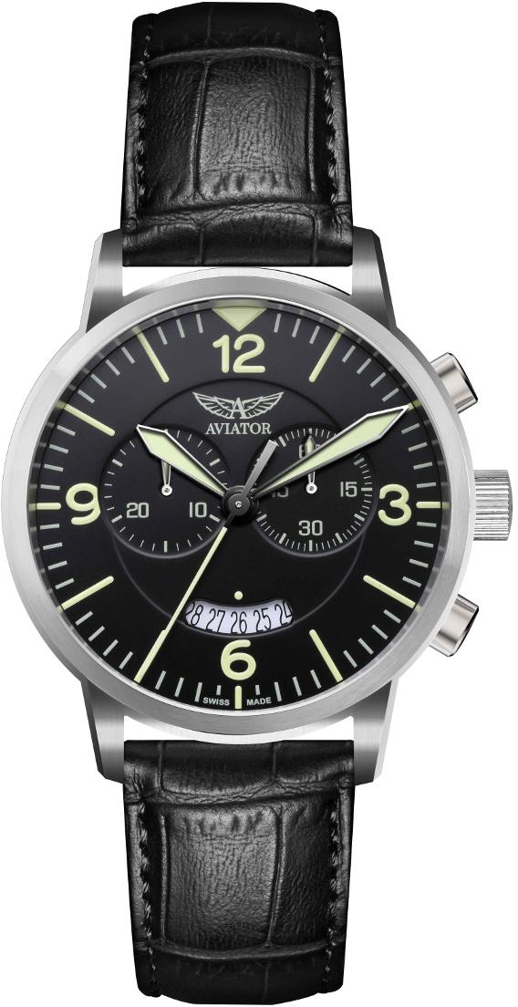 Aviator Airacobra V.2.13.0.074.4Наручные часы<br>Швейцарские часы Aviator Airacobra V.2.13.0.074.4Модель входит в коллекцию Airacobra. Это великолепные Мужские часы. Материал корпуса часов &amp;mdash; Сталь. Ремень &amp;mdash; Кожа. В этой модели стоит Сапфировое стекло. Часы выдерживают давление на глубине 100 м. Основной цвет циферблата Черный. Циферблат часов содержит часы, минуты, секунды. В этих часах используются такие усложнения как дата, хронограф. Диаметр корпуса 46мм.<br><br>Пол: Мужские<br>Страна-производитель: Швейцария<br>Механизм: Кварцевый<br>Материал корпуса: Сталь<br>Материал ремня/браслета: Кожа<br>Водозащита, диапазон: 100 - 150 м<br>Стекло: Сапфировое<br>Толщина корпуса: None<br>Стиль: Классика
