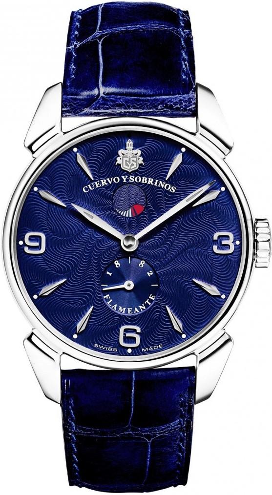 Cuervo y Sobrinos Нistoriador 3132.1FBНаручные часы<br>Швейцарские часы Cuervo y Sobrinos Нistoriador 3132.1FBПредставленная модель входит в коллекциюHistoriador. Это мужские часы. Материал корпуса — нержавеющая сталь. Ремень — кожа. В этой модели стоит сапфировое стекло. Водозащита - 30 м. Цвет циферблата - кремовый. Механизм -CYS 2010 (ETA 7001) - механический с системой ручного завода, 21 600 полуколебвний/час, 21 камень, запас хода - 42 часа, индикатор запаса хода. Диаметр корпуса модели - 40 мм.<br><br>Пол: Мужские<br>Страна-производитель: Швейцария<br>Механизм: Механический<br>Материал корпуса: Сталь<br>Материал ремня/браслета: Кожа<br>Водозащита, диапазон: 20 - 100 м<br>Стекло: Сапфировое<br>Толщина корпуса: 8,65 мм<br>Стиль: Классика