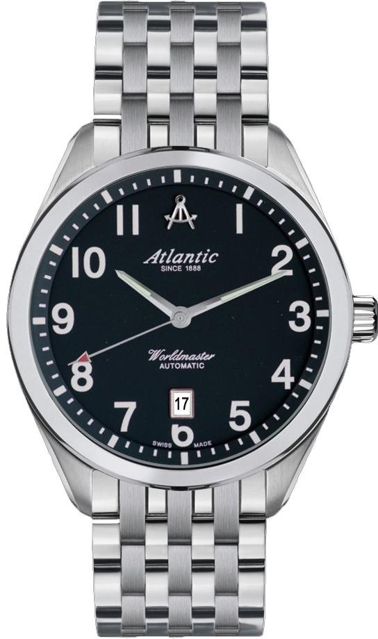 Atlantic Worldmaster 53755.41.65Наручные часы<br>Швейцарские часы Atlantic Worldmaster 53755.41.65<br><br>Пол: Мужские<br>Страна-производитель: Швейцария<br>Механизм: Механический<br>Материал корпуса: Сталь<br>Материал ремня/браслета: Сталь<br>Водозащита, диапазон: 100 - 150 м<br>Стекло: Сапфировое<br>Толщина корпуса: None<br>Стиль: Классика