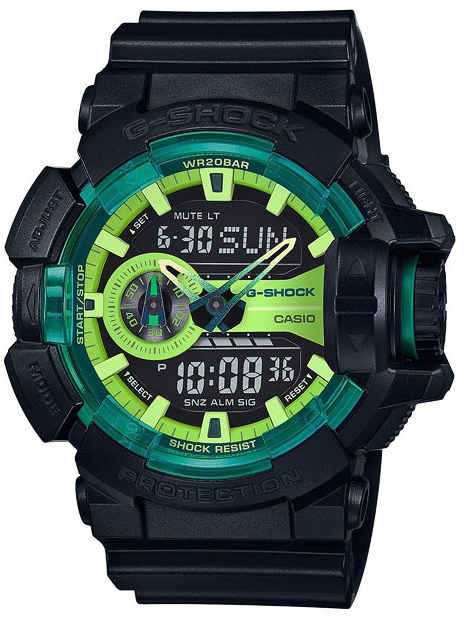 Casio G-shock G-Specials GA-400LY-1AНаручные часы<br>Японские часы Casio G-shock G-Specials GA-400LY-1A<br><br>Пол: Мужские<br>Страна-производитель: Япония<br>Механизм: Кварцевый<br>Материал корпуса: Пластик<br>Материал ремня/браслета: Каучук<br>Водозащита, диапазон: None<br>Стекло: Минеральное<br>Толщина корпуса: 18,3 мм<br>Стиль: None