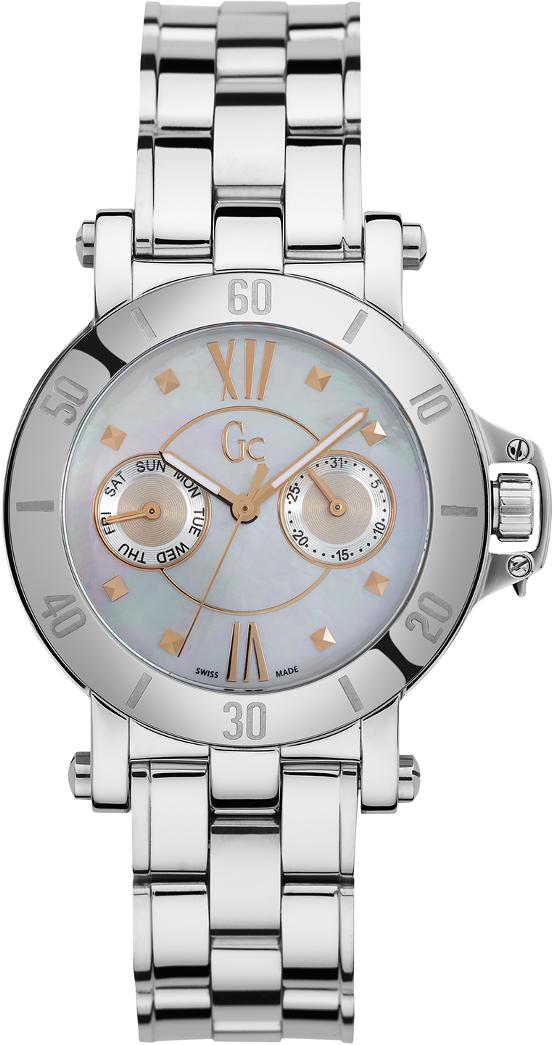 Gc Sport Chic X74012L1SНаручные часы<br>Швейцарские часы Gc Sport Chic X74012L1S<br><br>Пол: Женские<br>Страна-производитель: Швейцария<br>Механизм: Кварцевый<br>Материал корпуса: Сталь<br>Материал ремня/браслета: Сталь<br>Водозащита, диапазон: None<br>Стекло: Сапфировое<br>Толщина корпуса: 9 мм<br>Стиль: None