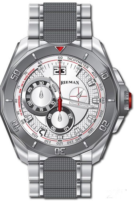 Rieman OutSpace R4747.294.072Наручные часы<br>Швейцарские часы Rieman OutSpace R4747.294.072Часы принадежат коллекции OutSpace. Это стильные мужские часы. Материал корпуса часов — сталь. Циферблат часов защищает сапфировое стекло. Водозащита этих часов 100 м. Основной цвет циферблата белый. Циферблат содержит часы, минуты, секунды. В этой модели используются такие усложнения как дата, . Корпус часов в диаметре 45,5мм.<br><br>Пол: Мужские<br>Страна-производитель: Швейцария<br>Механизм: Кварцевый<br>Материал корпуса: Сталь<br>Материал ремня/браслета: Сталь<br>Водозащита, диапазон: 100 - 150 м<br>Стекло: Сапфировое<br>Толщина корпуса: None<br>Стиль: Спорт