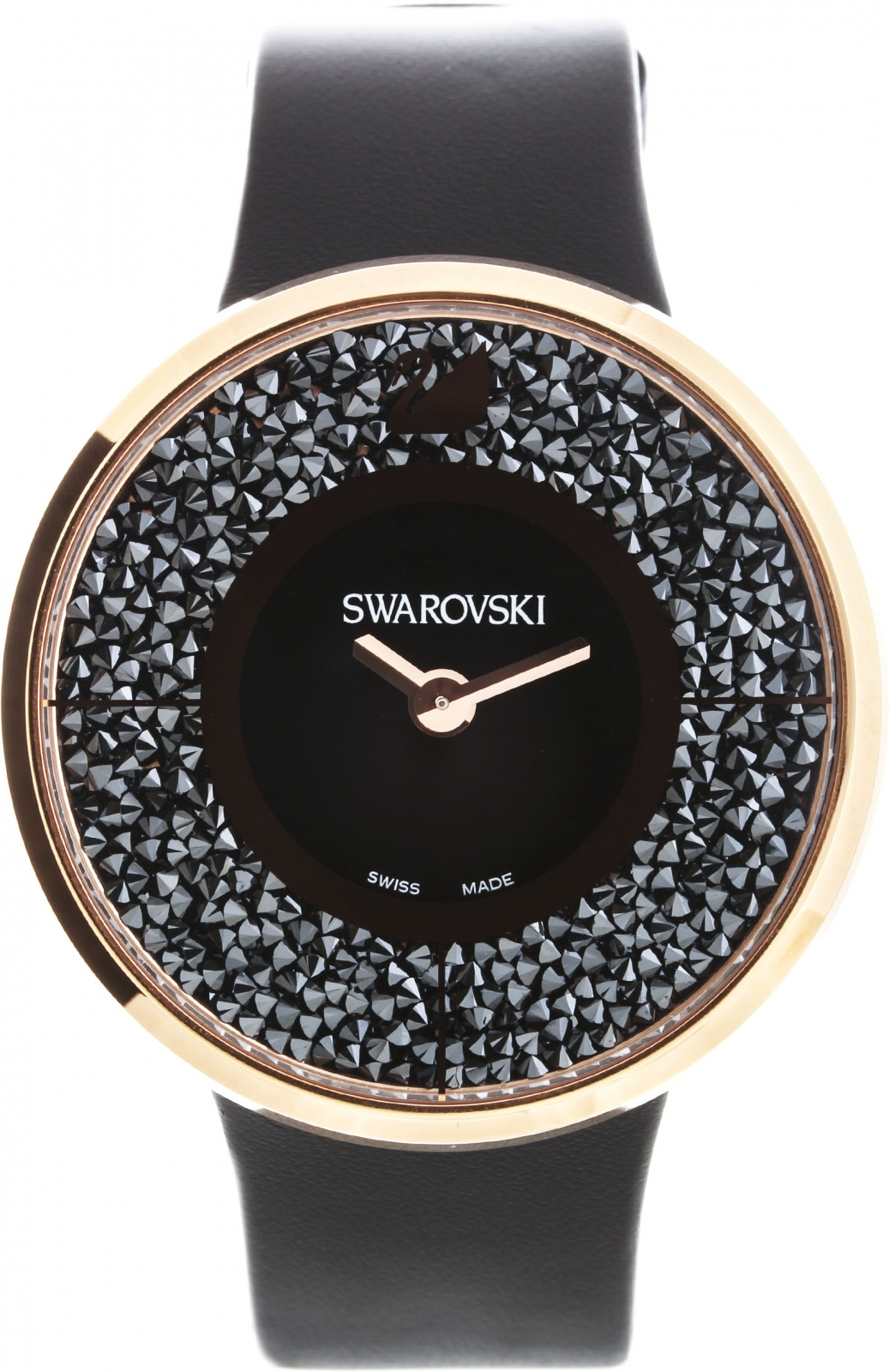 Swarovski Crystalline Black Rose Gold Tone 5045371Наручные часы<br>Швейцарские часы Swarovski Crystalline Black Rose Gold Tone 5045371<br><br>Пол: Женские<br>Страна-производитель: Швейцария<br>Механизм: Кварцевый<br>Материал корпуса: Сталь<br>Материал ремня/браслета: Кожа<br>Водозащита, диапазон: 20 - 100 м<br>Стекло: Сапфировое<br>Толщина корпуса: None<br>Стиль: Мода