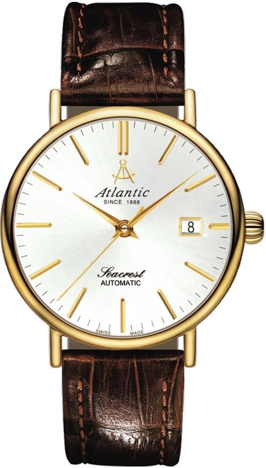 Atlantic Seacrest 50744.45.21Наручные часы<br>Швейцарские часы Atlantic Seacrest 50744.45.21<br><br>Пол: Мужские<br>Страна-производитель: Швейцария<br>Механизм: Механический<br>Материал корпуса: Сталь<br>Материал ремня/браслета: Кожа<br>Водозащита, диапазон: 20 - 100 м<br>Стекло: Сапфировое<br>Толщина корпуса: None<br>Стиль: Классика