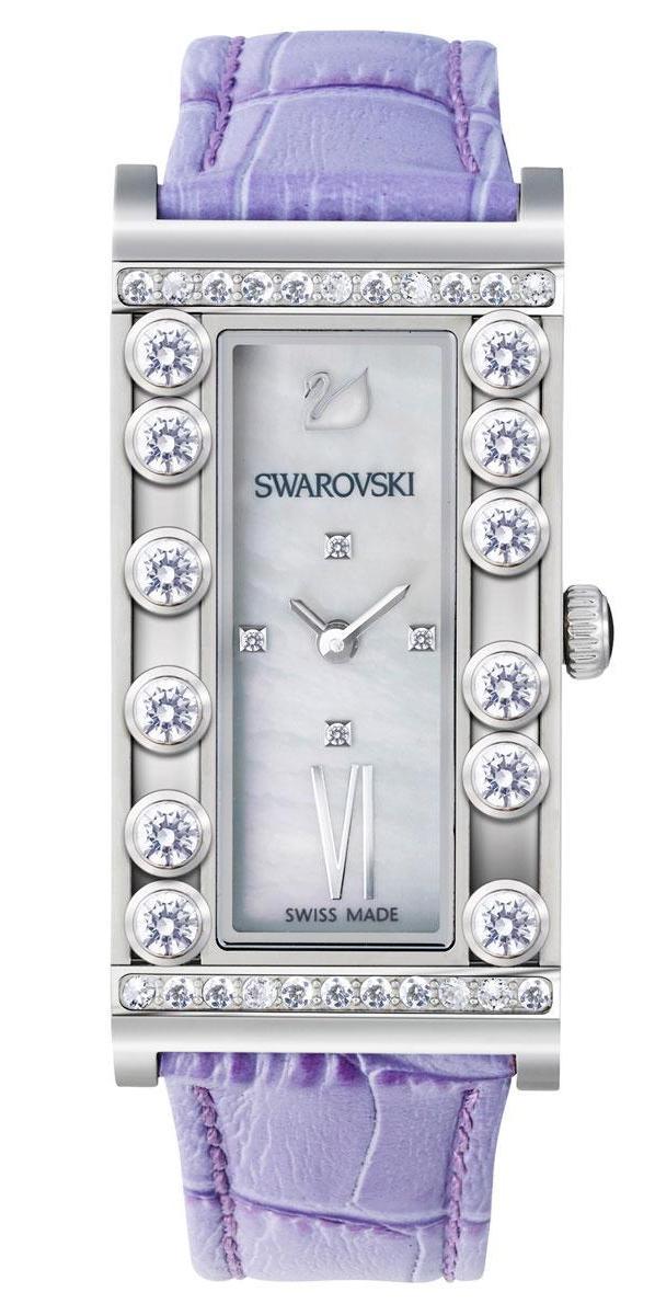 Купить Швейцарские часыSwarovskiLovely Crystals Square Lilac5096684, Swarovski 5096684