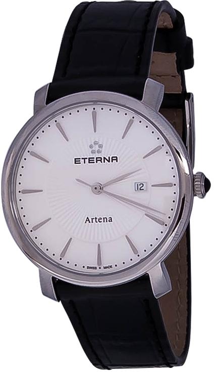 Eterna Artena 2510.41.11.1251Наручные часы<br>Швейцарские часы Eterna Artena 2510.41.11.1251Представленная модель входит в коллекцию Artena. Это настоящие женские часы. Материал корпуса часов &amp;mdash; сталь. Стекло - сапфировое. Часы этой модели обладают водозащитой 30 м.<br><br>Пол: Женские<br>Страна-производитель: Швейцария<br>Механизм: Кварцевый<br>Материал корпуса: Сталь<br>Материал ремня/браслета: Кожа<br>Водозащита, диапазон: 20 - 100 м<br>Стекло: Сапфировое<br>Толщина корпуса: None<br>Стиль: None