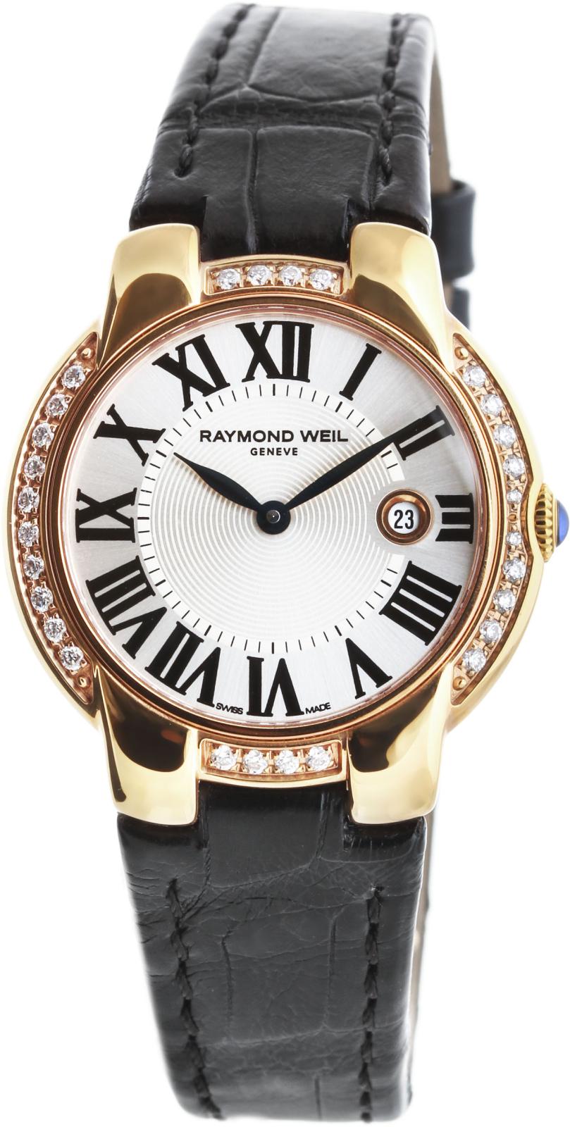 Raymond Weil Jasmine 5229-PCS-00659Наручные часы<br>Швейцарские часы Raymond Weil Jasmine 5229-PCS-00659Данная модель входит в коллекцию Jasmine. Это модные женские часы. Материал корпуса часов — сталь+золото. Циферблат часов защищает сапфировое стекло. Водозащита этих часов 50 м.<br><br>Пол: Женские<br>Страна-производитель: Швейцария<br>Механизм: Кварцевый<br>Материал корпуса: Сталь+Золото<br>Материал ремня/браслета: Кожа<br>Водозащита, диапазон: 20 - 100 м<br>Стекло: Сапфировое<br>Толщина корпуса: None<br>Стиль: None