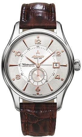 Atlantic Worldmaster 52754.41.25RНаручные часы<br>Швейцарские часы Atlantic Worldmaster 52754.41.25R<br><br>Пол: Мужские<br>Страна-производитель: Швейцария<br>Механизм: Механический<br>Материал корпуса: Сталь<br>Материал ремня/браслета: Кожа<br>Водозащита, диапазон: 20 - 100 м<br>Стекло: Сапфировое<br>Толщина корпуса: None<br>Стиль: Классика