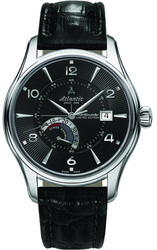 Atlantic Worldmaster 52755.41.65SНаручные часы<br>Швейцарские часы Atlantic Worldmaster 52755.41.65S<br><br>Пол: Мужские<br>Страна-производитель: Швейцария<br>Механизм: Механический<br>Материал корпуса: Сталь<br>Материал ремня/браслета: Кожа<br>Водозащита, диапазон: 20 - 100 м<br>Стекло: Сапфировое<br>Толщина корпуса: None<br>Стиль: Классика