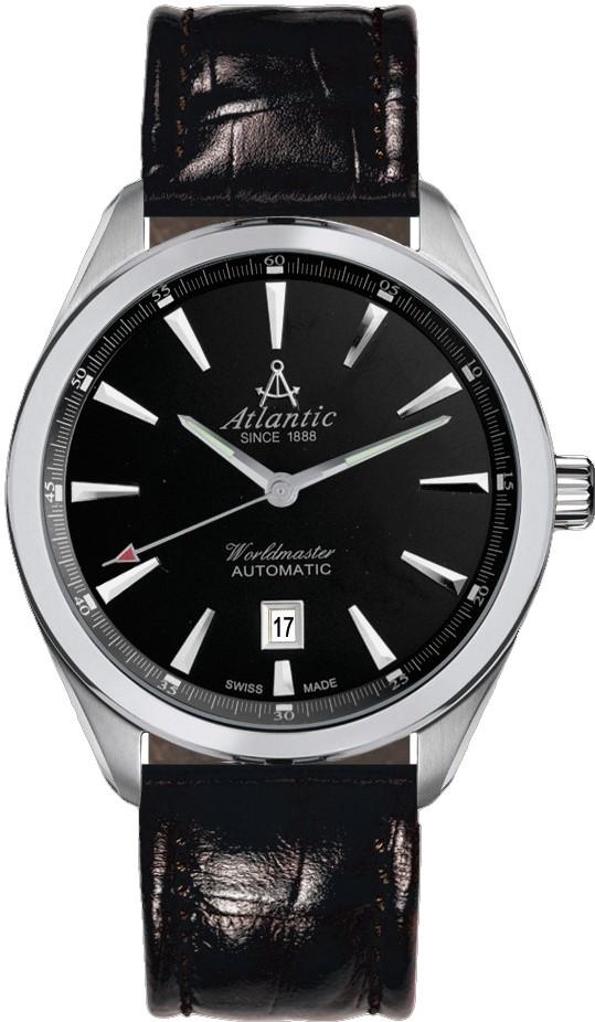 Atlantic Worldmaster 53750.41.61Наручные часы<br>Швейцарские часы Atlantic Worldmaster 53750.41.61<br><br>Пол: Мужские<br>Страна-производитель: Швейцария<br>Механизм: Механический<br>Материал корпуса: Сталь<br>Материал ремня/браслета: Кожа<br>Водозащита, диапазон: 20 - 100 м<br>Стекло: Сапфировое<br>Толщина корпуса: None<br>Стиль: Классика