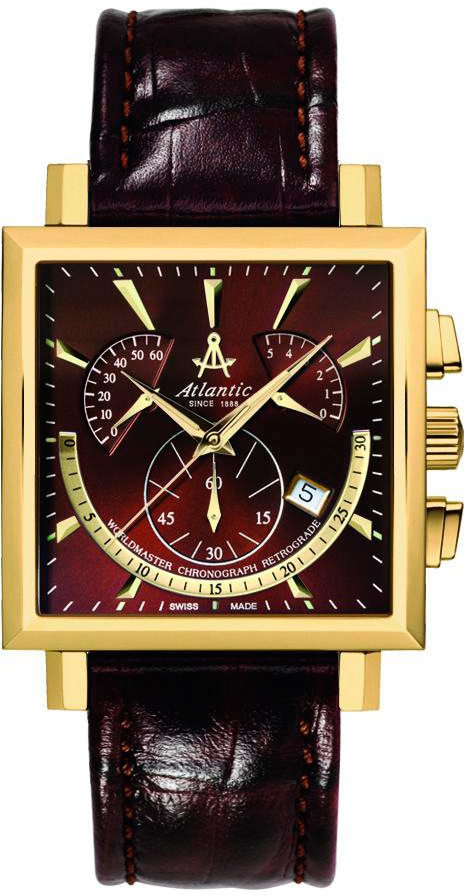 Atlantic Worldmaster 54450.45.81Наручные часы<br>Швейцарские часы Atlantic Worldmaster 54450.45.81<br><br>Пол: Мужские<br>Страна-производитель: Швейцария<br>Механизм: Кварцевый<br>Материал корпуса: Сталь<br>Материал ремня/браслета: Кожа<br>Водозащита, диапазон: 20 - 100 м<br>Стекло: Сапфировое<br>Толщина корпуса: None<br>Стиль: Классика
