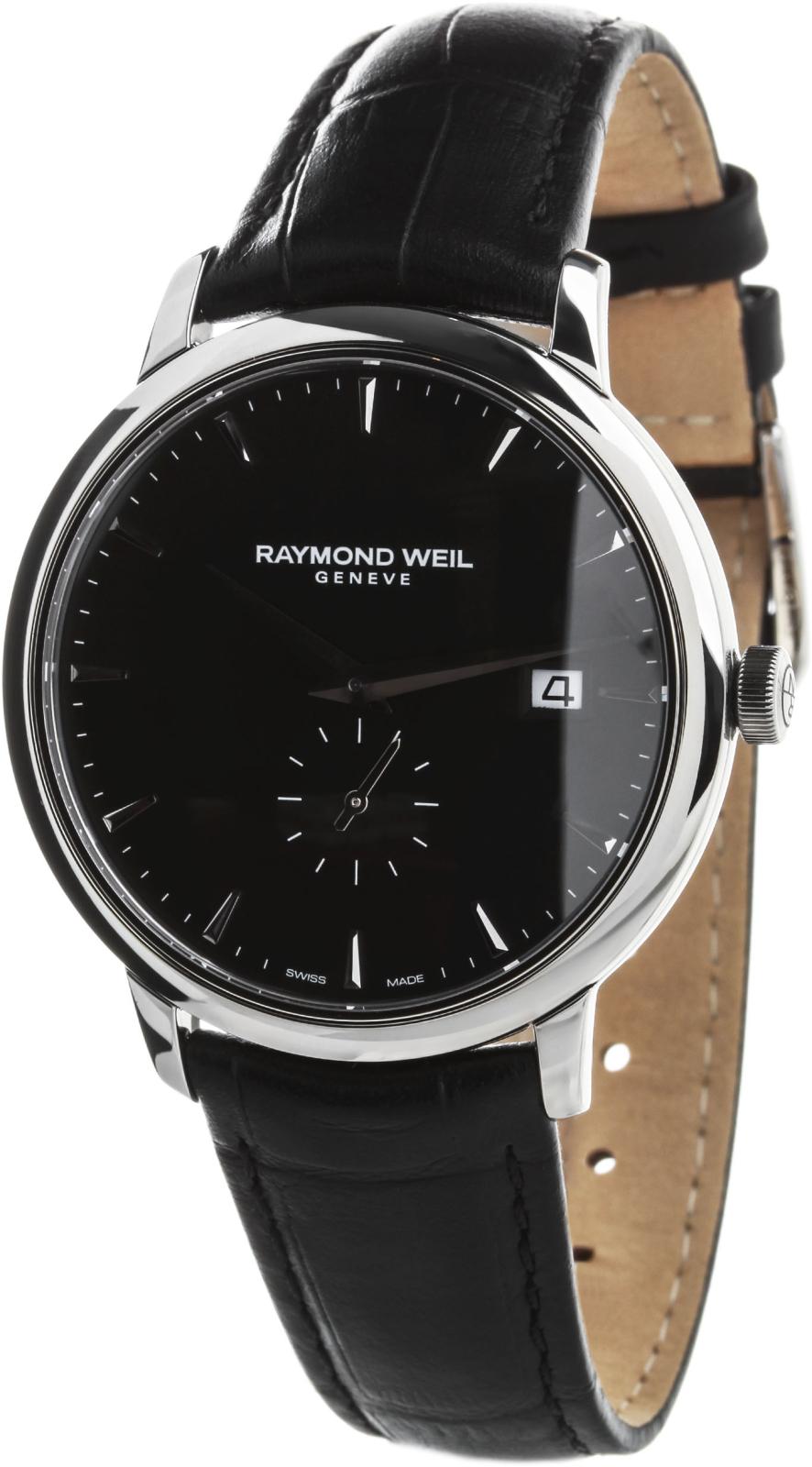 Raymond Weil Toccata 5484-STC-20001Наручные часы<br>Часы принадежат коллекции Toccata. Это стильные мужские часы. Материал корпуса часов — сталь. Стекло - сапфировое. Часы этой модели обладают водозащитой 50 м. В этой модели используются такие усложнения как дата, . Часы обладают корпусом 39мм.<br><br>Пол: Мужские<br>Страна-производитель: Швейцария<br>Механизм: Кварцевый<br>Материал корпуса: Сталь<br>Материал ремня/браслета: Кожа<br>Водозащита, диапазон: 20 - 100 м<br>Стекло: Сапфировое<br>Толщина корпуса: 8,3 мм<br>Стиль: Классика