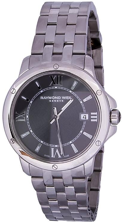 Raymond Weil Tango 5591-ST-00607Наручные часы<br>Швейцарские часы Raymond Weil Tango 5591-ST-00607Данная модель входит в коллекцию Tango. Это модные мужские часы. Материал корпуса часов — сталь. В этих часах используется сапфировое стекло. Часы выдерживают давление на глубине 50 м.<br><br>Пол: Мужские<br>Страна-производитель: Швейцария<br>Механизм: Кварцевый<br>Материал корпуса: Сталь<br>Материал ремня/браслета: Сталь<br>Водозащита, диапазон: 20 - 100 м<br>Стекло: Сапфировое<br>Толщина корпуса: None<br>Стиль: None