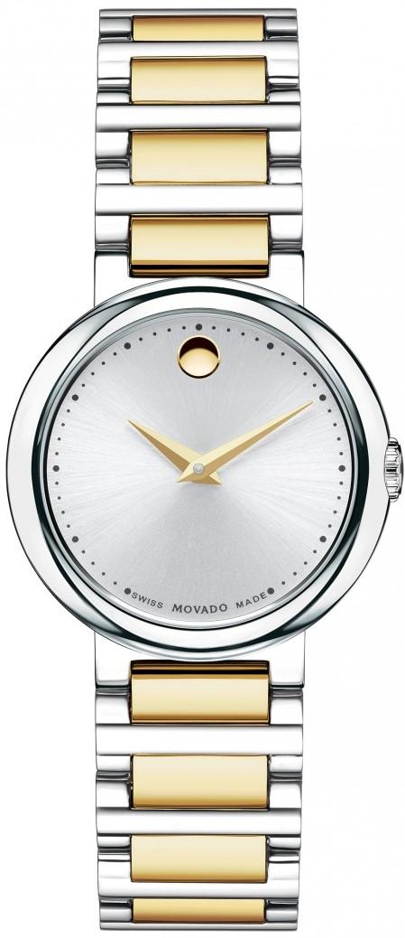 Movado Concerto 0606703Наручные часы<br>Швейцарские часы Movado Concerto 0606703<br><br>Пол: Женские<br>Страна-производитель: Швейцария<br>Механизм: Кварцевый<br>Материал корпуса: Сталь<br>Материал ремня/браслета: Сталь+золото<br>Водозащита, диапазон: 20 - 100 м<br>Стекло: Сапфировое<br>Толщина корпуса: None<br>Стиль: Классика