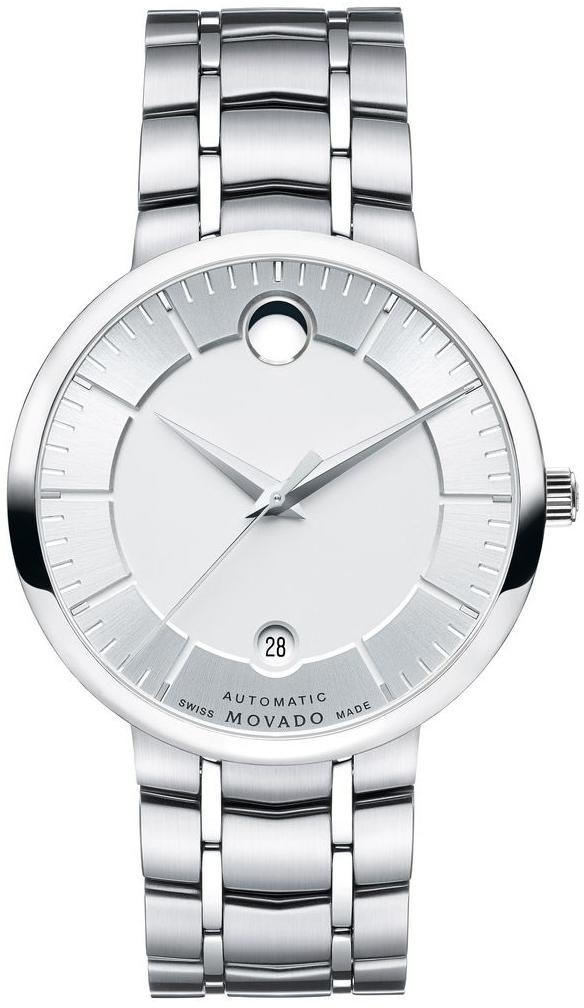 Movado 1881 Automatic 0606915Наручные часы<br>Швейцарские часы Movado 1881 Automatic 0606915<br><br>Пол: Мужские<br>Страна-производитель: Швейцария<br>Механизм: Механический<br>Материал корпуса: Сталь<br>Материал ремня/браслета: Сталь<br>Водозащита, диапазон: None<br>Стекло: Сапфировое<br>Толщина корпуса: None<br>Стиль: None