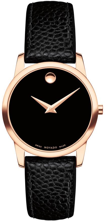 Movado Museum Classic 0607061Наручные часы<br>Швейцарские часы Movado Museum Classic 0607061<br><br>Пол: Женские<br>Страна-производитель: Швейцария<br>Механизм: Кварцевый<br>Материал корпуса: Сталь<br>Материал ремня/браслета: Кожа<br>Водозащита, диапазон: None<br>Стекло: Сапфировое<br>Толщина корпуса: None<br>Стиль: None