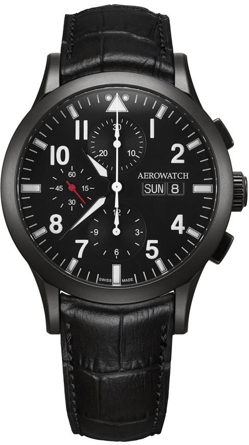 Aerowatch Les Grandes Classiques 61948 NO03Наручные часы<br>Швейцарские часы Aerowatch Les Grandes Classiques 61948 NO03<br><br>Пол: Мужские<br>Страна-производитель: Швейцария<br>Механизм: Механический<br>Материал корпуса: Сталь<br>Материал ремня/браслета: Кожа<br>Водозащита, диапазон: 20 - 100 м<br>Стекло: Сапфировое<br>Толщина корпуса: 15 мм<br>Стиль: Спорт
