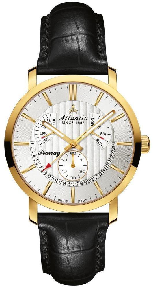 Atlantic Seaway 63560.45.21Наручные часы<br>Швейцарские часы Atlantic Seaway 63560.45.21<br><br>Пол: Мужские<br>Страна-производитель: Швейцария<br>Механизм: Кварцевый<br>Материал корпуса: Сталь<br>Материал ремня/браслета: Кожа<br>Водозащита, диапазон: 100 - 150 м<br>Стекло: Сапфировое<br>Толщина корпуса: None<br>Стиль: None