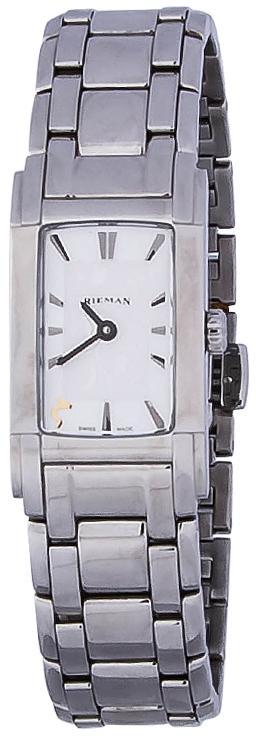 Rieman Integrale Ladies R6440.129.012Наручные часы<br>Швейцарские часы Rieman Integrale Ladies R6440.129.012Данная модель — яркий представитель коллекции Integrale Ladies. Это женские часы. Материал корпуса часов — сталь. Циферблат часов защищает сапфировое стекло. Часы выдерживают давление на глубине 30 м. Основной цвет циферблата серый. Циферблат модели содержит часы, минуты. В этой модели используются такие усложнения как . Диаметр корпуса данной модели 21х41мм.<br><br>Пол: Женские<br>Страна-производитель: Швейцария<br>Механизм: Кварцевый<br>Материал корпуса: Сталь<br>Материал ремня/браслета: Сталь<br>Водозащита, диапазон: 20 - 100 м<br>Стекло: Сапфировое<br>Толщина корпуса: None<br>Стиль: Классика
