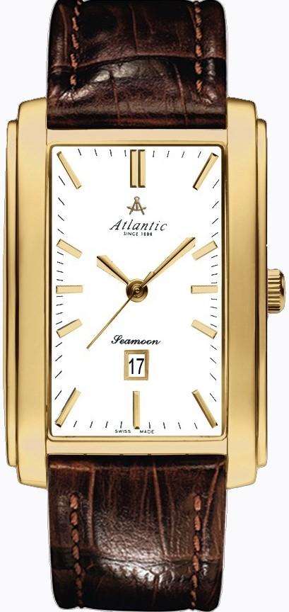 Atlantic Seamoon 67340.45.11Наручные часы<br>Швейцарские часы Atlantic Seamoon 67340.45.11<br><br>Пол: Мужские<br>Страна-производитель: Швейцария<br>Механизм: Кварцевый<br>Материал корпуса: Сталь<br>Материал ремня/браслета: Кожа<br>Водозащита, диапазон: 20 - 100 м<br>Стекло: Сапфировое<br>Толщина корпуса: 7 мм<br>Стиль: Классика
