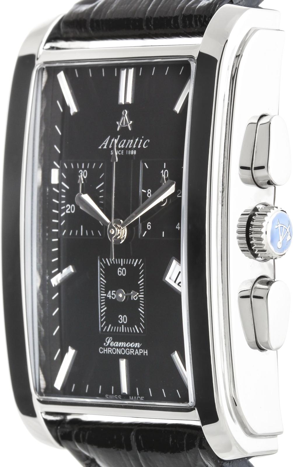 Atlantic Zegarek 67440.41.61Наручные часы<br>Швейцарские часы Atlantic Zegarek 67440.41.61<br><br>Пол: Мужские<br>Страна-производитель: Швейцария<br>Механизм: Кварцевый<br>Материал корпуса: Сталь<br>Материал ремня/браслета: Кожа<br>Водозащита, диапазон: 20 - 100 м<br>Стекло: Сапфировое<br>Толщина корпуса: 12 мм<br>Стиль: Классика