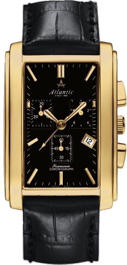 Atlantic Seamoon 67440.45.61Наручные часы<br>Швейцарские часы Atlantic Seamoon 67440.45.61<br><br>Пол: Мужские<br>Страна-производитель: Швейцария<br>Механизм: Кварцевый<br>Материал корпуса: Сталь<br>Материал ремня/браслета: Кожа<br>Водозащита, диапазон: 20 - 100 м<br>Стекло: Сапфировое<br>Толщина корпуса: None<br>Стиль: Классика