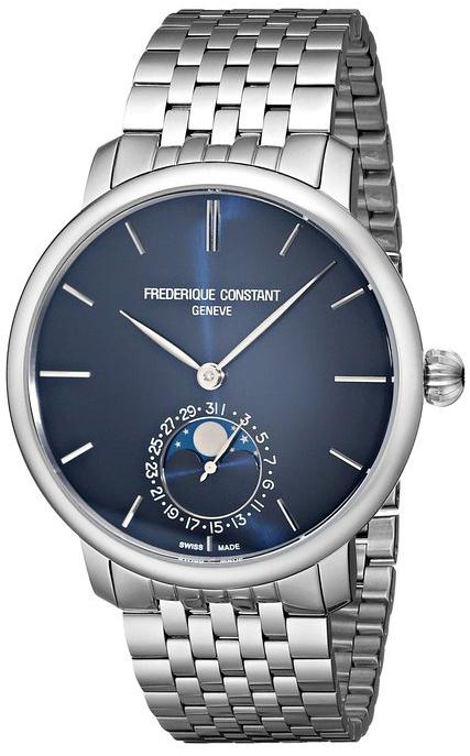Frederique Constant Slim Line FC-705N4S6BНаручные часы<br>Швейцарские часы Frederique Constant Slim Line FC-705N4S6B<br><br>Пол: Мужские<br>Страна-производитель: Швейцария<br>Механизм: Механический<br>Материал корпуса: Сталь<br>Материал ремня/браслета: Сталь<br>Водозащита, диапазон: 20 - 100 м<br>Стекло: Сапфировое<br>Толщина корпуса: 11 мм<br>Стиль: Классика