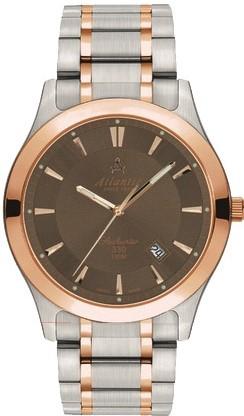 Atlantic Seahunter 71365.43.81RНаручные часы<br>Швейцарские часы Atlantic Seahunter 71365.43.81RДанная модель входит в коллекцию Seahunter. Это настоящие мужские часы. Материал корпуса часов &amp;mdash; сталь+золото. Циферблат часов защищает сапфировое стекло. Водозащита - 100 м. Цвет циферблата - коричневый. Циферблат модели содержит часы, минуты, секунды. В этих часах используются такие усложнения как дата, . Диаметр корпуса данной модели 40мм.<br><br>Пол: Мужские<br>Страна-производитель: None<br>Механизм: Кварцевый<br>Материал корпуса: Сталь+золото<br>Материал ремня/браслета: Сталь+золото<br>Водозащита, диапазон: None<br>Стекло: Сапфировое<br>Толщина корпуса: 9<br>Стиль: Классика