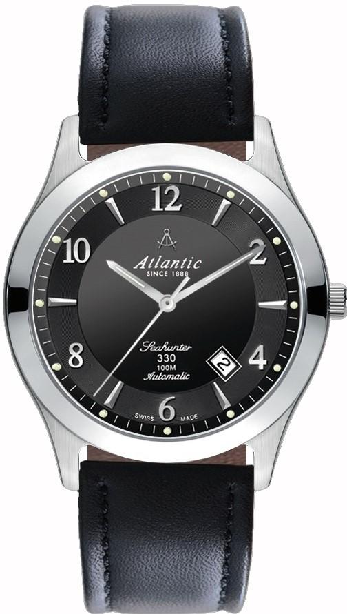 Atlantic Seahunter 71760.41.65Наручные часы<br>Швейцарские часы Atlantic Seahunter 71760.41.65<br><br>Пол: Мужские<br>Страна-производитель: Швейцария<br>Механизм: Механический<br>Материал корпуса: Сталь<br>Материал ремня/браслета: Кожа<br>Водозащита, диапазон: 100 - 150 м<br>Стекло: Сапфировое<br>Толщина корпуса: None<br>Стиль: Классика
