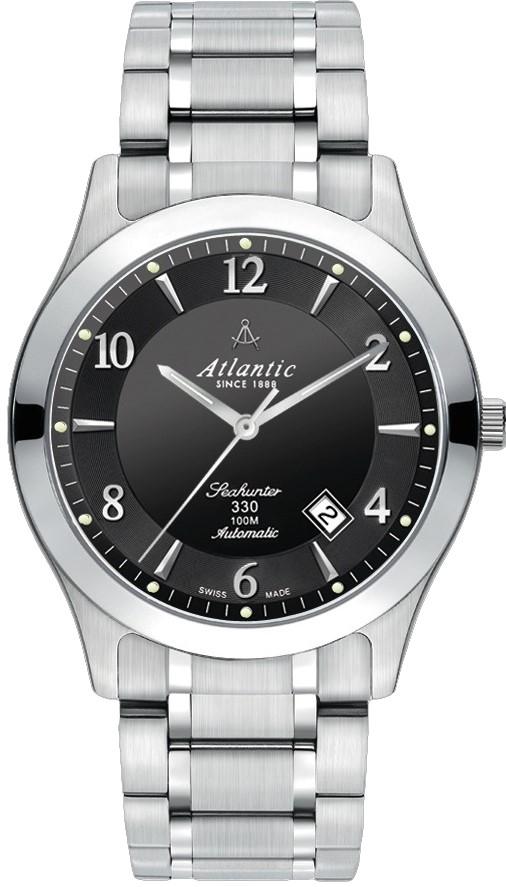 Atlantic Seahunter 71765.41.65Наручные часы<br>Швейцарские часы Atlantic Seahunter 71765.41.65<br><br>Пол: Мужские<br>Страна-производитель: Швейцария<br>Механизм: Механический<br>Материал корпуса: Сталь<br>Материал ремня/браслета: Сталь<br>Водозащита, диапазон: 100 - 150 м<br>Стекло: Сапфировое<br>Толщина корпуса: None<br>Стиль: Классика