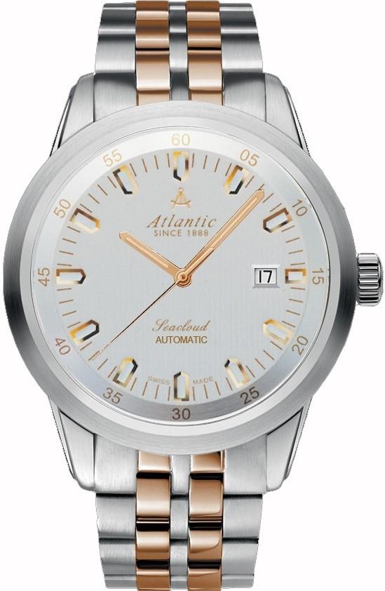 Atlantic Seacloud 73365.43.21RНаручные часы<br>Швейцарские часы Atlantic Seacloud 73365.43.21R<br><br>Пол: Мужские<br>Страна-производитель: Швейцария<br>Механизм: Кварцевый<br>Материал корпуса: Сталь<br>Материал ремня/браслета: Сталь+золото<br>Водозащита, диапазон: 100 - 150 м<br>Стекло: Сапфировое<br>Толщина корпуса: None<br>Стиль: Классика