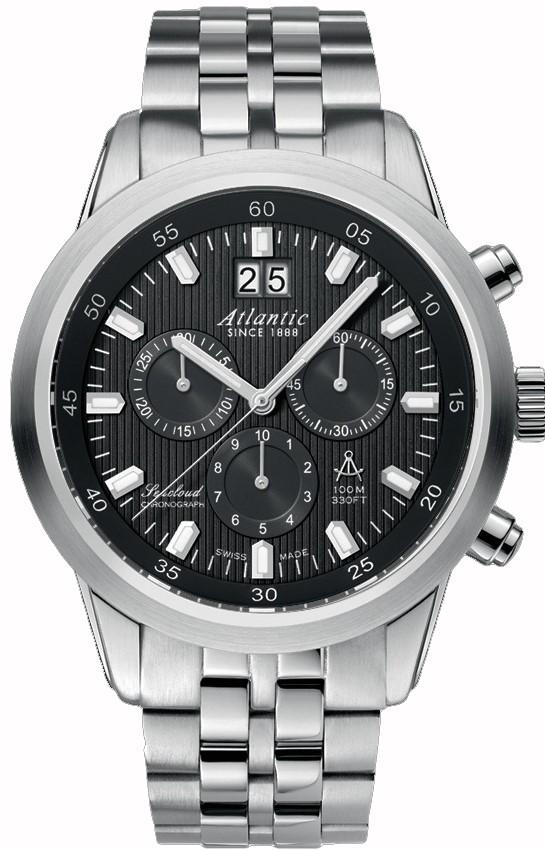 Atlantic Seacloud 73465.41.61Наручные часы<br>Швейцарские часы Atlantic Seacloud 73465.41.61<br><br>Для кого?: Мужские<br>Страна-производитель: Швейцария<br>Механизм: Кварцевый<br>Материал корпуса: Сталь<br>Материал ремня/браслета: Сталь<br>Водозащита, диапазон: 100 - 150 м<br>Стекло: Сапфировое<br>Толщина корпуса: None<br>Стиль: Спорт