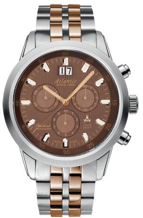 Atlantic Worldmaster 73465.43.81RНаручные часы<br>Швейцарские часы Atlantic Worldmaster 73465.43.81R<br><br>Пол: Мужские<br>Страна-производитель: Швейцария<br>Механизм: Кварцевый<br>Материал корпуса: Сталь<br>Материал ремня/браслета: Сталь+золото<br>Водозащита, диапазон: 100 - 150 м<br>Стекло: Сапфировое<br>Толщина корпуса: None<br>Стиль: Классика