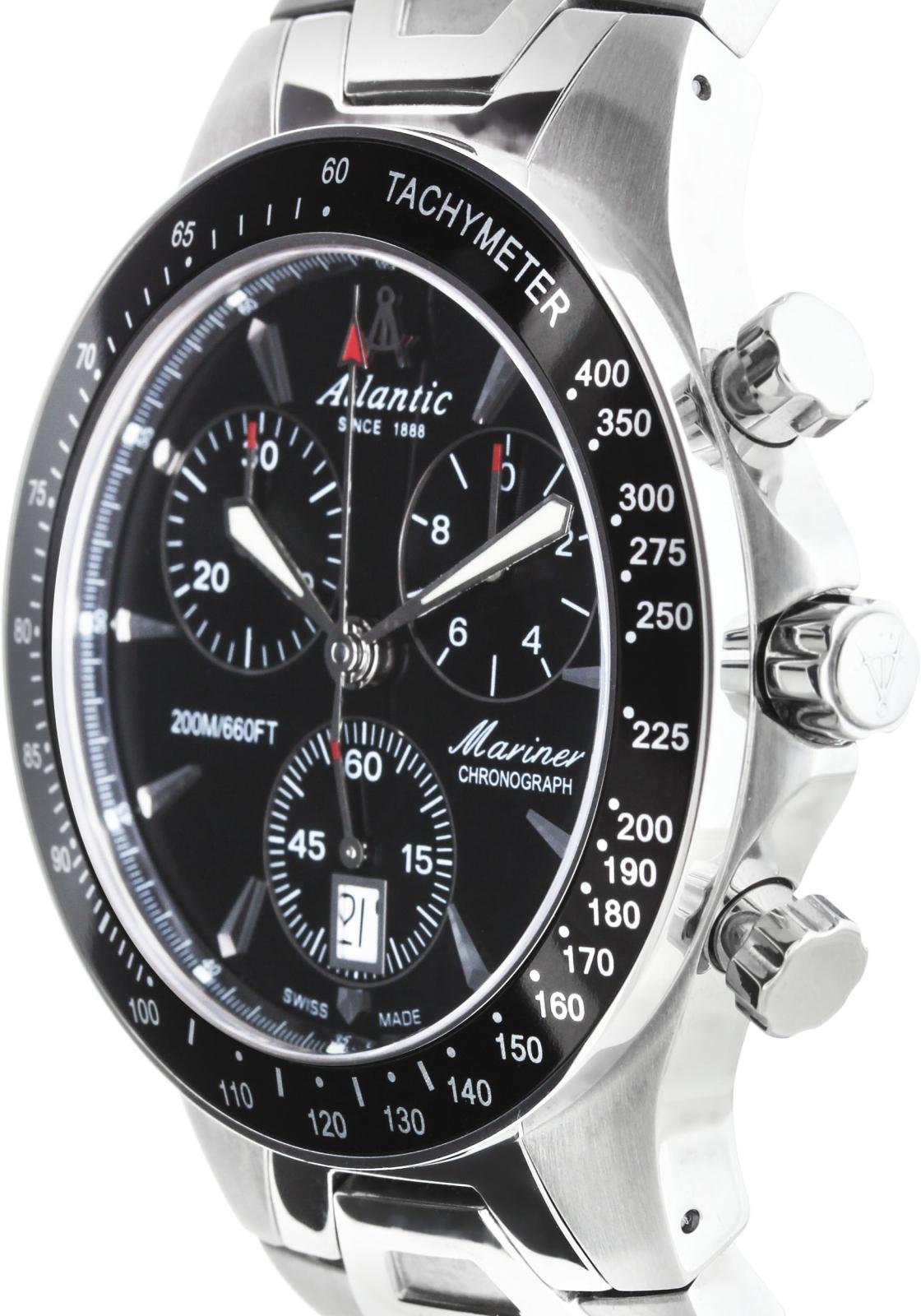 Atlantic Mariner 80476.41.61Наручные часы<br>Швейцарские часы Atlantic Mariner 80476.41.61<br><br>Пол: Мужские<br>Страна-производитель: Швейцария<br>Механизм: Кварцевый<br>Материал корпуса: Сталь<br>Материал ремня/браслета: Сталь<br>Водозащита, диапазон: 200 - 800 м<br>Стекло: Сапфировое<br>Толщина корпуса: None<br>Стиль: Спорт