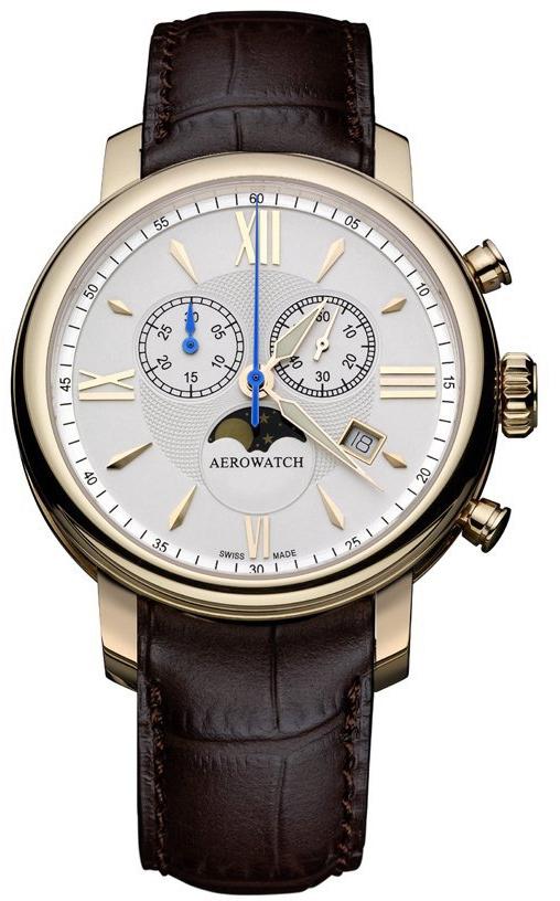 Aerowatch Renaissance 84936 RO02Наручные часы<br>Швейцарские часы Aerowatch Renaissance 84936 RO02<br><br>Пол: Мужские<br>Страна-производитель: Швейцария<br>Механизм: Кварцевый<br>Материал корпуса: Сталь<br>Материал ремня/браслета: Кожа<br>Водозащита, диапазон: 20 - 100 м<br>Стекло: Сапфировое<br>Толщина корпуса: 11 мм<br>Стиль: Классика