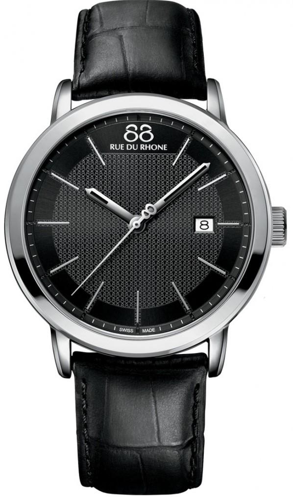 88 Rue Du Rhone Double 8 Origin 87WA130010Наручные часы<br>Швейцарские часы 88 Rue Du Rhone Double 8 Origin 87WA130010Часы принадежат коллекции Double 8 Origin. Это настоящие мужские часы. Материал корпуса часов — сталь. В этой модели стоит сапфировое стекло. Водозащита этой модели 50 м. Основной цвет циферблата черный. Циферблат модели содержит часы, минуты, секунды. В этой модели используются такие усложнения как дата, . Корпус часов в диаметре 42мм.<br><br>Пол: Мужские<br>Страна-производитель: None<br>Механизм: Кварцевый<br>Материал корпуса: Сталь<br>Материал ремня/браслета: Кожа<br>Водозащита, диапазон: None<br>Стекло: Сапфировое<br>Толщина корпуса: 8 мм<br>Стиль: Классика
