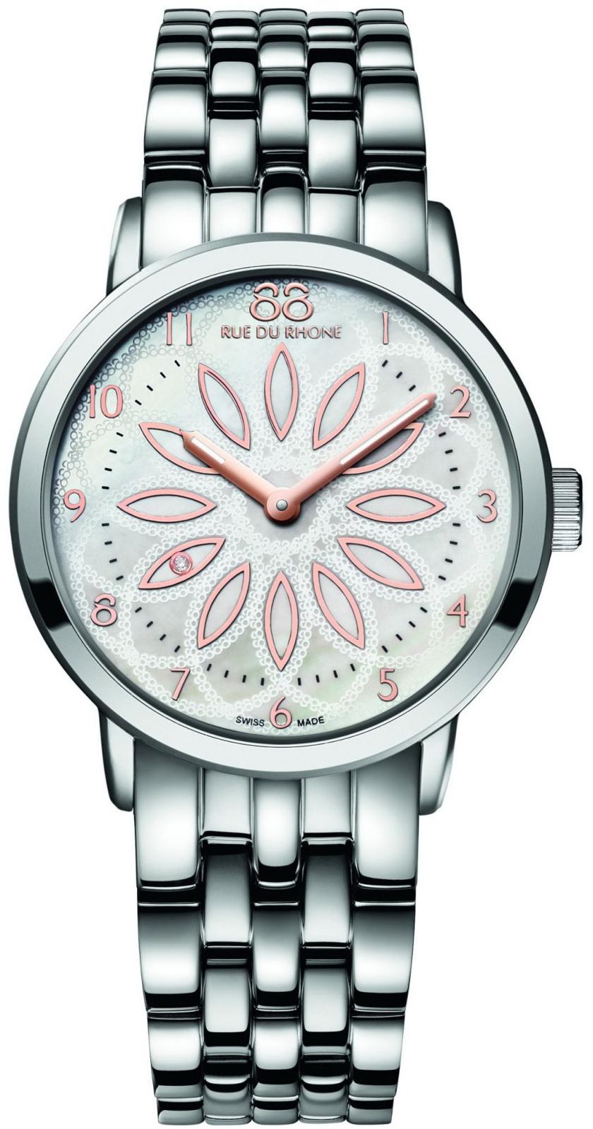 88 Rue Du Rhone Double 8 Origin 87WA140010Наручные часы<br>Швейцарские часы 88 Rue Du Rhone Double 8 Origin 87WA140010<br><br>Для кого?: Женские<br>Страна-производитель: Швейцария<br>Механизм: Кварцевый<br>Материал корпуса: Сталь<br>Материал ремня/браслета: Сталь<br>Водозащита, диапазон: 20 - 100 м<br>Стекло: Сапфировое<br>Толщина корпуса/: <br>Стиль: Классика