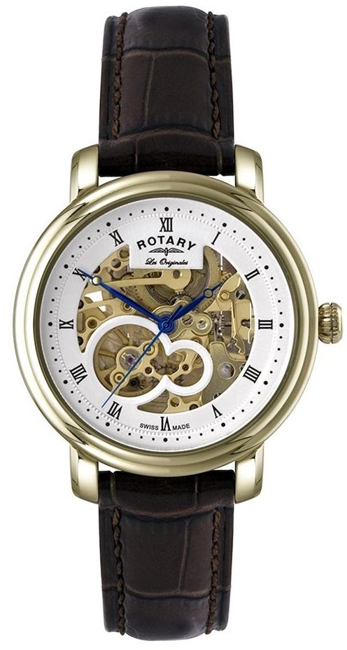 Rotary Revelation GS90506/06Наручные часы<br>Швейцарские часы Rotary Revelation GS90506/06<br><br>Пол: Мужские<br>Страна-производитель: Швейцария<br>Механизм: Механический<br>Материал корпуса: Сталь<br>Материал ремня/браслета: Кожа<br>Водозащита, диапазон: 20 - 100 м<br>Стекло: Сапфировое<br>Толщина корпуса: None<br>Стиль: Классика